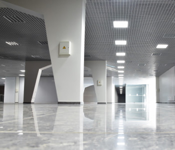 commercial lighting in a building